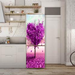 Stickerele decorative, pentru uși, Copacul de trandafir în formă de inimă, 1 foaie de 80 x 200 cm