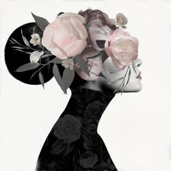 Tablou, Fată cu flori