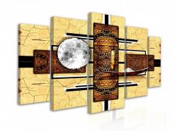 Tablou modular, Desen abstract de luna africana in desert