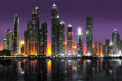 Tablou modular, Vedere a orașului de noapte din apă
