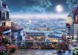Tablou modular,Vedere de noapte la oraș