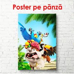 Poster, Animale într-un parc tropical