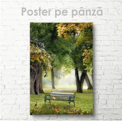 Poster, Bancă în parc
