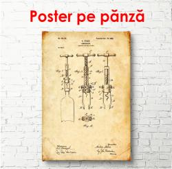 Poster, Desen cu trei tirbușoane