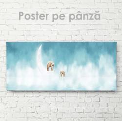 Poster, Elefanții pe lună