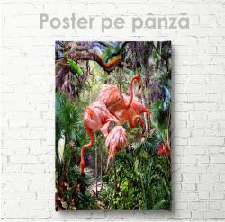 Poster, Flamingo în junglă