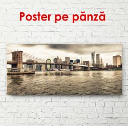 Poster, Ocean cu vedere la podul Brooklyn