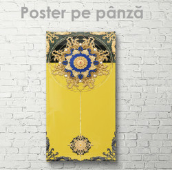 Poster, Ornament pe fond galben