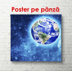 Poster, Pământul și o galaxie albastră
