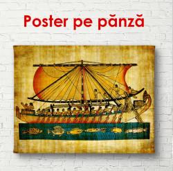 Poster, Picturi retro cu egiptenii de pe navă