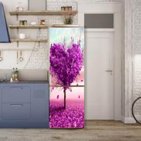 Stickere 3D pentru uși, Copacul de trandafir în formă de inimă, 1 foaie de 80 x 200 cm