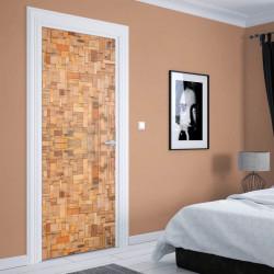 Stickere 3D pentru uși, Frumusețea din lemn, 1 foaie de 80 x 200 cm