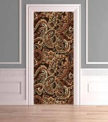 Stickere 3D pentru uși, Ornamente frumoase, 1 foaie de 80 x 200 cm