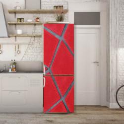 Stickere 3D pentru uși, Textură sferă roșie, 1 foaie de 80 x 200 cm