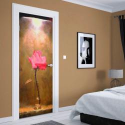 Stickere 3D pentru uși, Trandafirul în pustietate, 1 foaie de 80 x 200 cm
