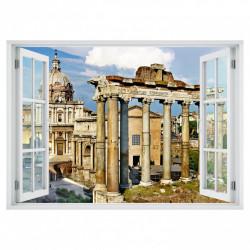Stickere pentru pereți, Fereastra cu vedere spre castelul înconjurat de coloane