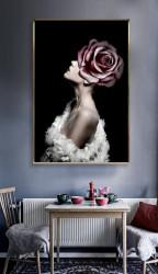Tablou, Fată cu trandafir