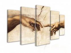 """Tablou modular, """"Creația mâinilor vieții - Leonard De Vinci"""""""