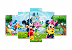 Tablou modular, Mickey Mouse și prietenii