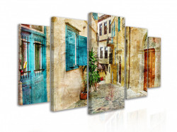Tablou modular, Stradă îngustă în stil Provence
