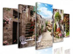 Tablou modular, Străzi italiene