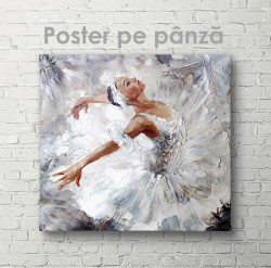 Постер, Balerină în rochie albă