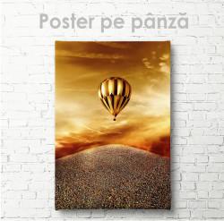 Постер, Balonul auriu cu aer cald