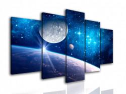 Multicanvas, Tablou modular, Universul albastru