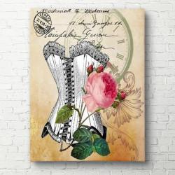 Poster, Corsetul cu floare roz