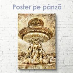 Poster, Fântână vintage de aur