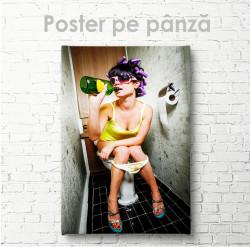 Poster, Fată cu alcool