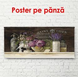 Poster, Flori pe un raft