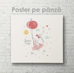 Poster, Iepurașul zburător