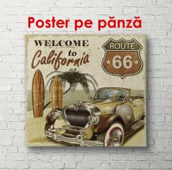 Poster, Mașina retro maro