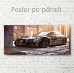 Poster, Mercedes negru lucios
