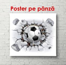 Poster, Mingea de fotbal care sparge un perete