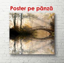 Poster, Pădurea în ceață și un pod