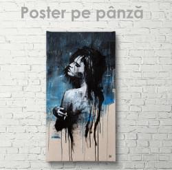 Poster, Pictură abstractă a unei fete tinere