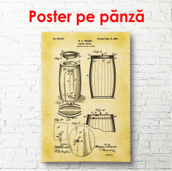 Poster, Schița unui butoi de vin