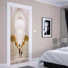 Stickere 3D pentru uși, Holul cu coloane , 1 foaie de 80 x 200 cm