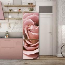 Stickere 3D pentru uși, Trandafirul roz, 1 foaie de 80 x 200 cm