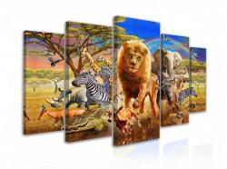 Tablou modular, Cireadă de animale sălbatice în safari