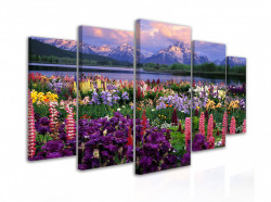 Tablou modular, Flori