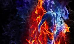 Tablou modular, Îmbrățișarea de foc.
