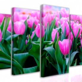 Tablou modular, Primăvara în nuanțe de roz