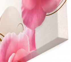 Tablou modular, Trandafirul roz pe un fundal 3D.