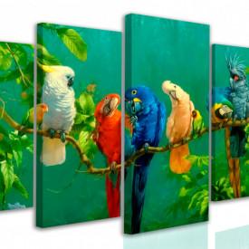 Tablou modular, Varietate de papagali