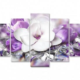 Multicanvas, Floarea albă pe fundalul purpuriu