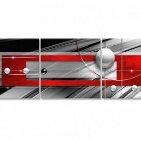 Multicanvas, Tablou modular, Abstracția Rosu-gri