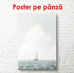 Poster, Barcă în largul mării